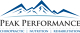 Peak Performance Chiropractic, Nutrition and Rehab Clinic