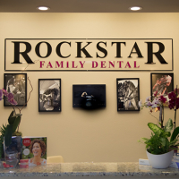 Logo for Rockstar Family Dental