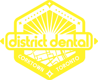 Logo for District Dental- 514 King Street East