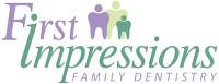 Logo for First Impressions Family Dentistry- Jennifer L. Gawthrop, DDS, PA