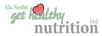 Logo for Ela Nesbit Get Healthy Nutrition