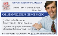 Logo for Carlsbad Wellness Chiropractic; Dr. Michael Jacobs, D.C.